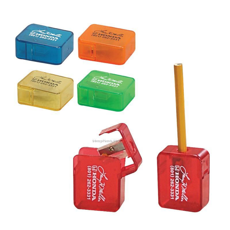 Square Pencil Sharpener W/Flip-top Lid