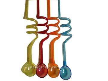 Straw W/Spoon