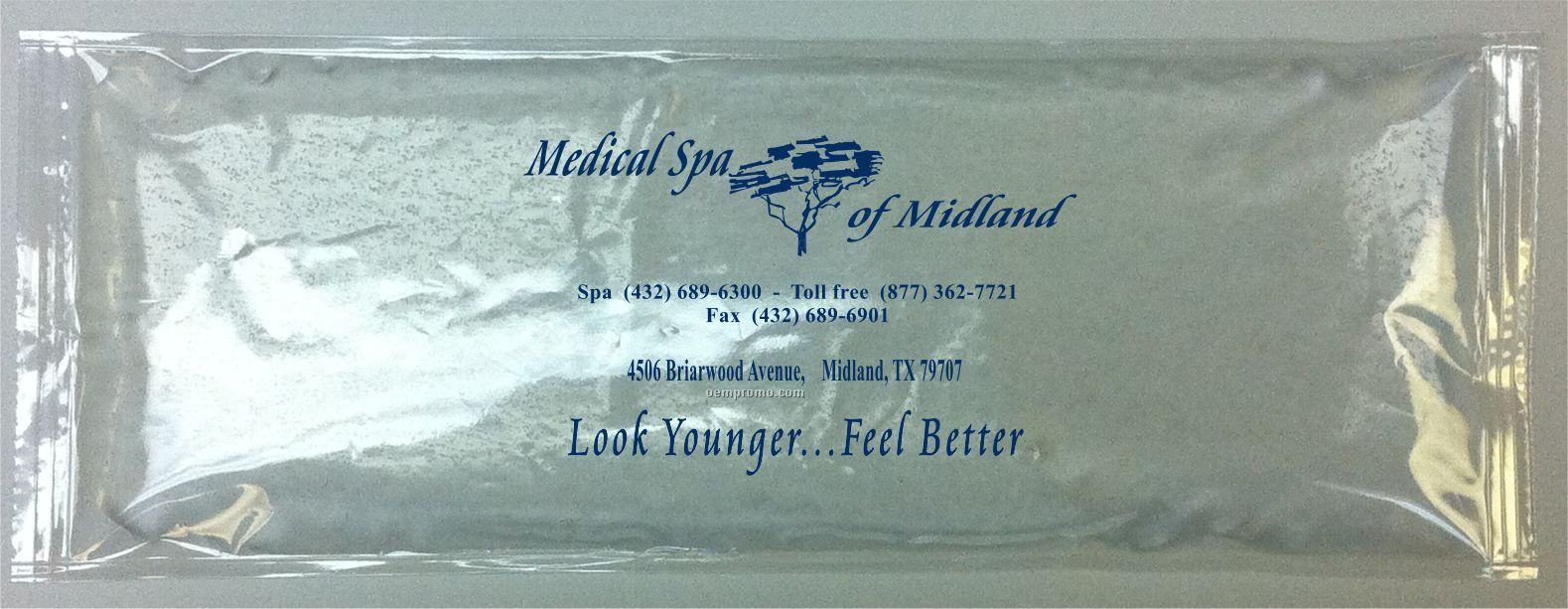 Blue Stay - Soft Gel Pack With Black, Blue Or Red Surface Imprint (4x4.5)
