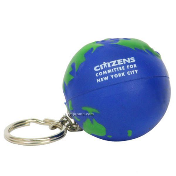 Earthball Key Chain Squeeze Toy