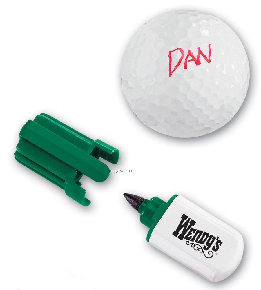 Golf Ball Marker Pen With Quick Drying, Water Proof Ink