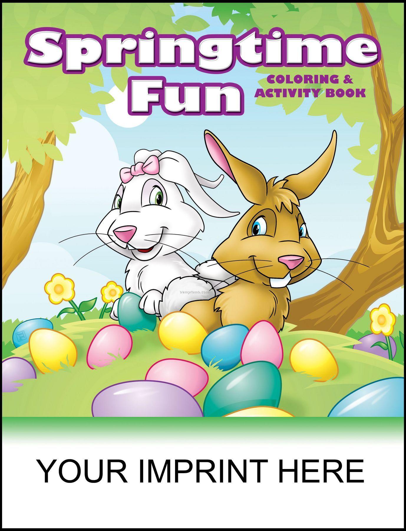 Springtime Fun Coloring & Activity Book
