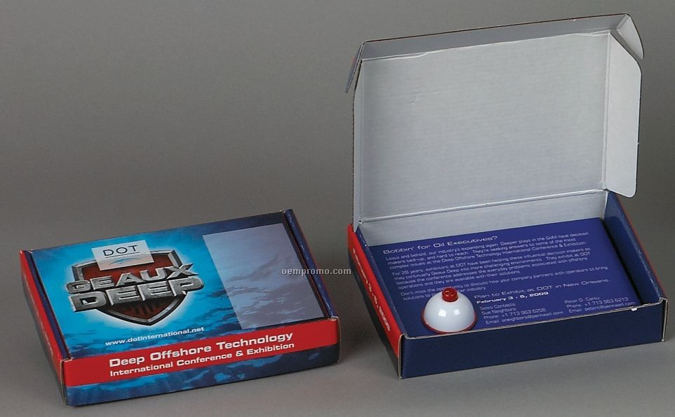 """Themed Box With Fishing Bobber Insert - Copy On Lid (6-1/4""""X4-1/2""""X1-1/4"""")"""