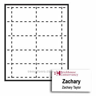 """- Classic Name Tag Paper Inserts - 2 Color (3 1/2""""X2"""")"""