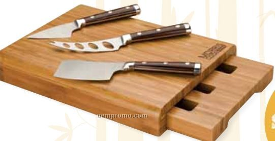 Bamboo 4 Piece Cheese Set