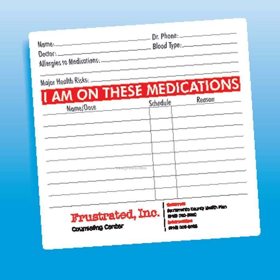 Health & Safety - Unlaminated Medications Magnet