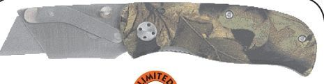 Maxam Liner Lock Razor Knife W/ Aluminum Camo Handle