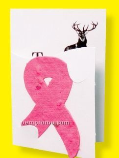 Floral Seed Paper Pop-out Booklet - Awareness Ribbon