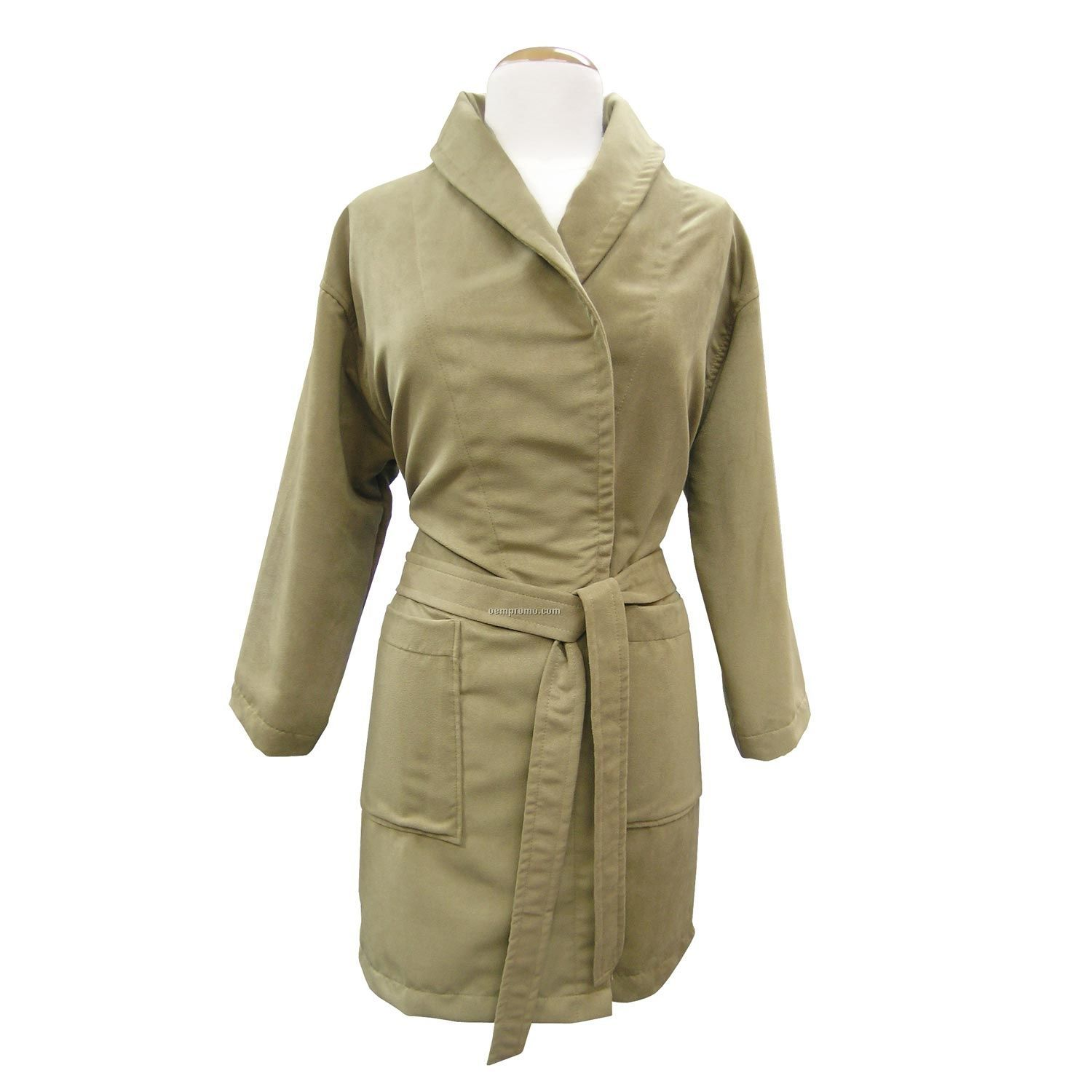 House Coat: Ladies Lounge-about Microfiber Suede House Coat (2xs-2xl