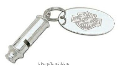Safety Whistle Key Tag W/ Pouch & Plate