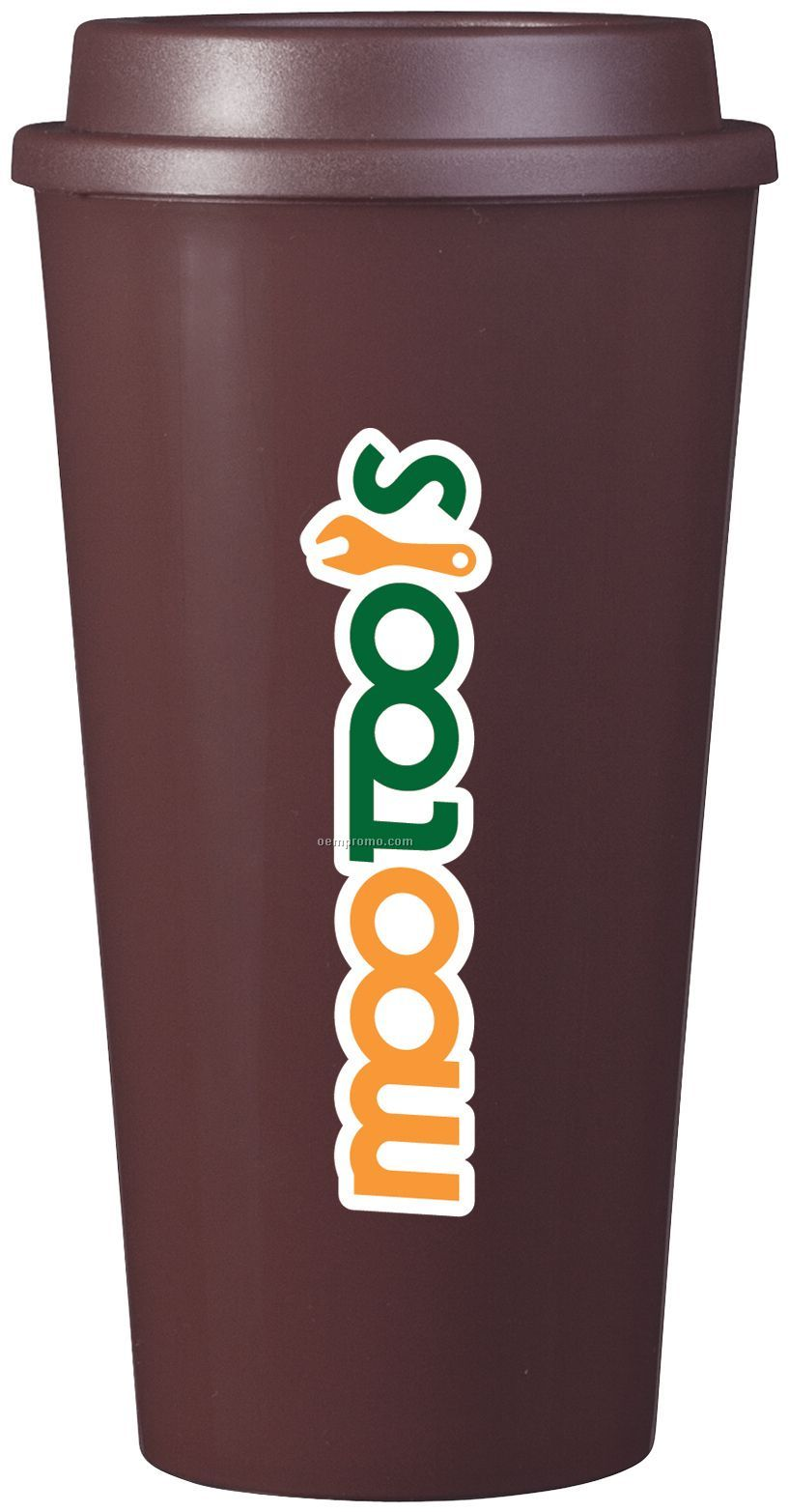 16 Oz. Brown Plastic Cup2go Cup