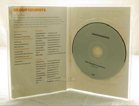 DVD Replication Retail In Clear Slim Amaray Case 4 Panel 4/1 Insert (DVD 9)