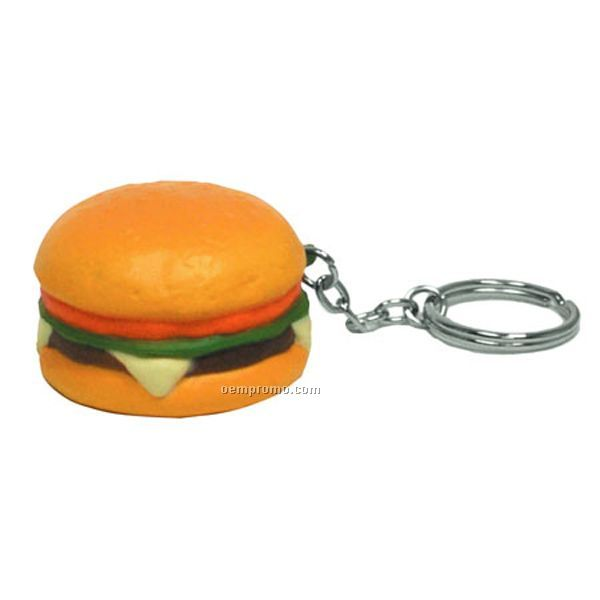 Hamburger Key Chain Squeeze Toy