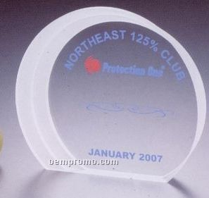 "Custom Acrylic Award W/ Frosted Side (6 3/4""X5 7/8""X1"")"