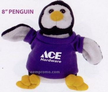 Laying Penguin Beanie Stuffed Animal