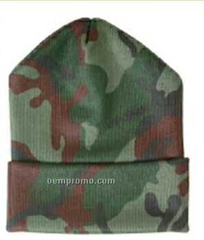 Long Camouflage Beanie Cap (One Size)
