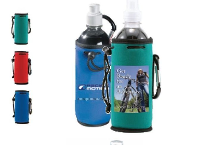 Penguin Collapsible Bottle Cooler With Carabiner Clip