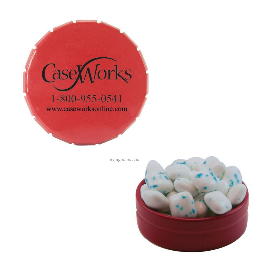 Small Red Snap-top Mint Tin Filled With Sugar Free Gum