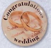 "1.5"" Round Stock Buttons (Congratulations Wedding)"