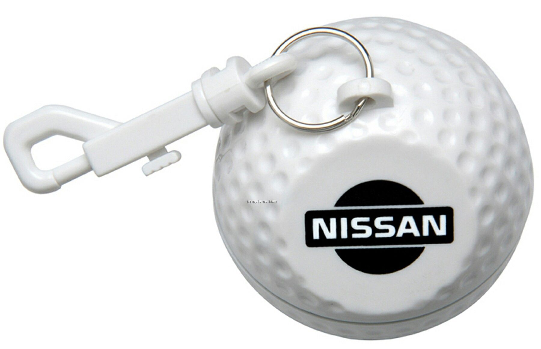 Golf Ball Design Poncho Holder, Clear Poncho With Hood--5 Day Production