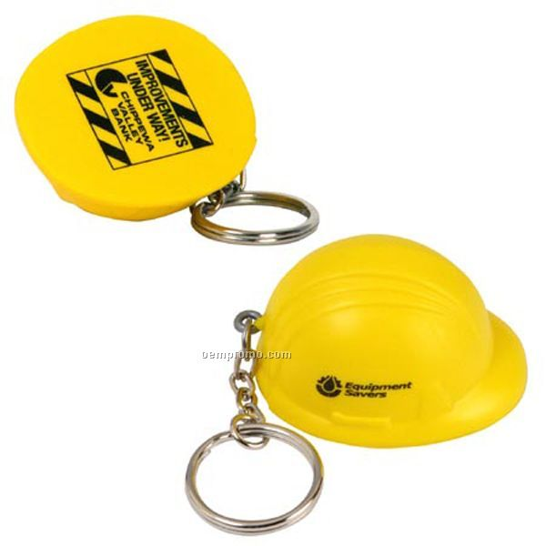 Hard Hat Key Chain Squeeze Toy