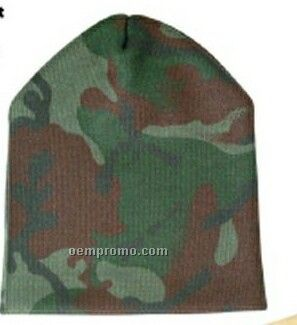 Short Camouflage Beanie Cap (One Size)