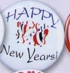 "1-1/2"" Stock 1/5"" Buttons (Happy New Years)"