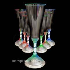 7 1/2 Oz. Light Up Champagne Glass With Spiral Rainbow LED