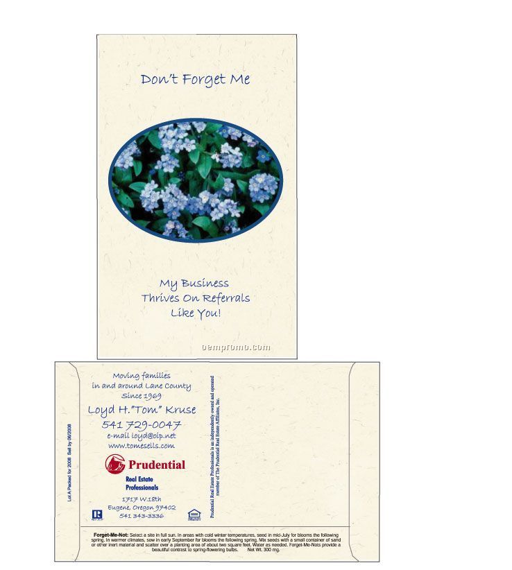 Forget-me-not Postcard Size Seed Packet (2 Color)
