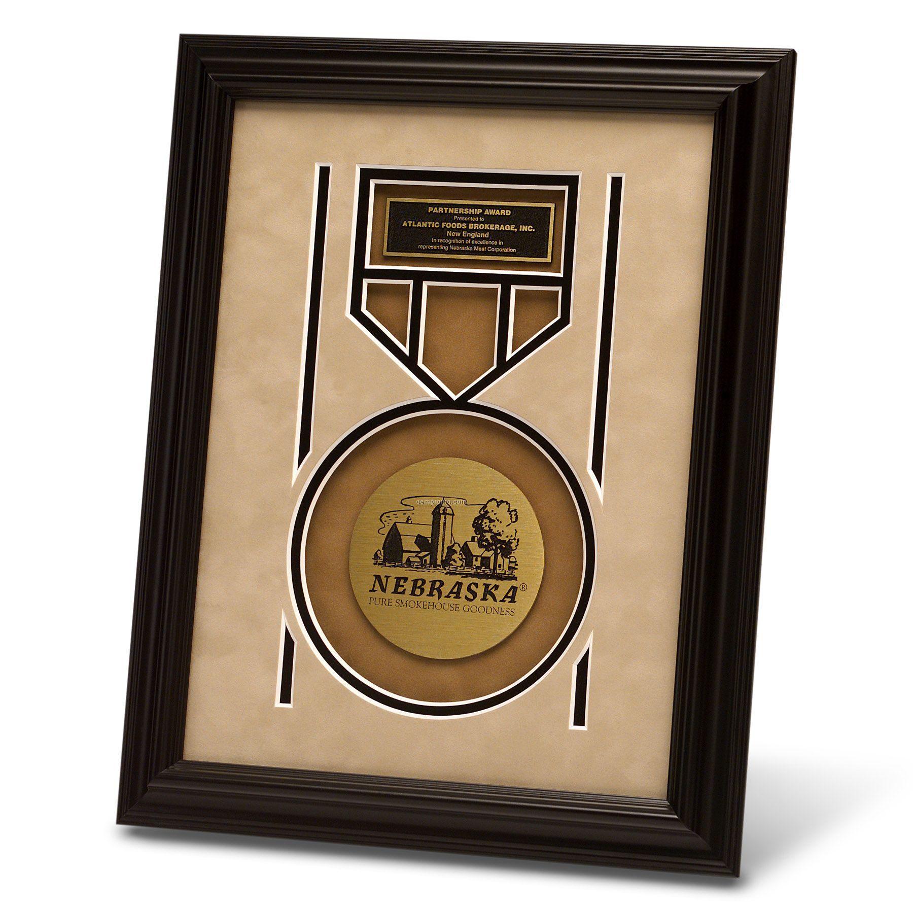 """Framed Designer Matted Award (9"""" X 12"""")"""