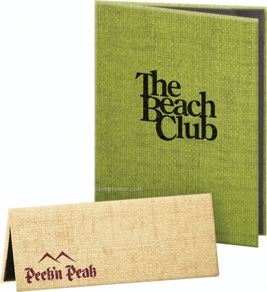 "Rattan Weave Hardback Menu Cover-4 View (8-1/2""X11"")"