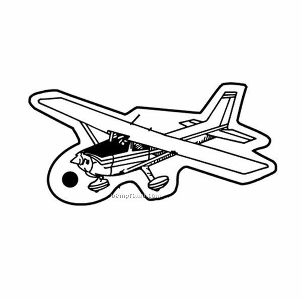 Stock Shape Collection Small Private Airplane Key Tag