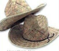 Straw Cowboy Hats (12 Pack)