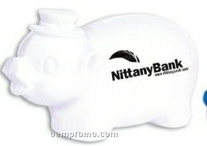 White Smash-it Piggy Bank (Imprinted)