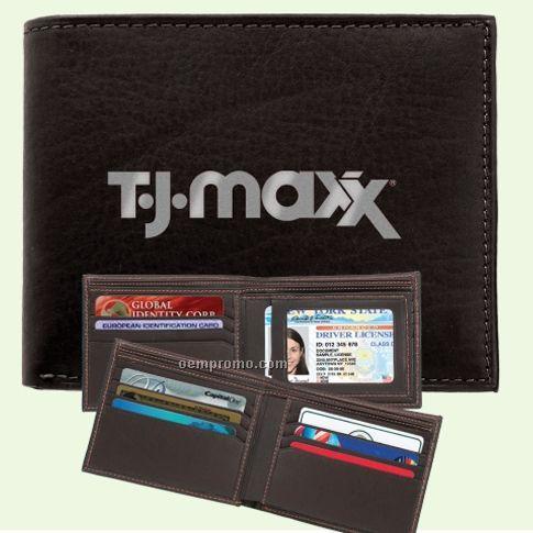 Belize Men's Removable Leather Passcase Wallet