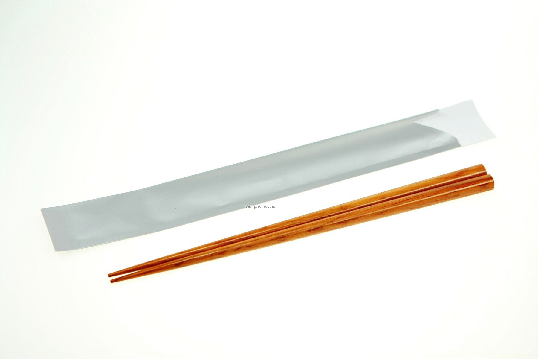 Wooden Brown Chopsticks In Silver Paper Pouch