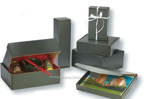 "Black Specialty Corrugated Packaging (6""X6""X2"")"