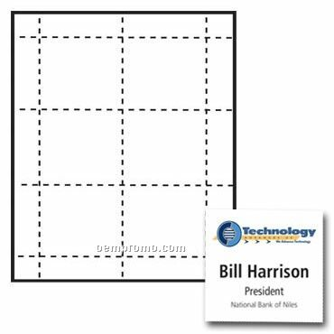 """Classic Name Tag Paper Inserts - 4 Color (3""""X3"""")"""