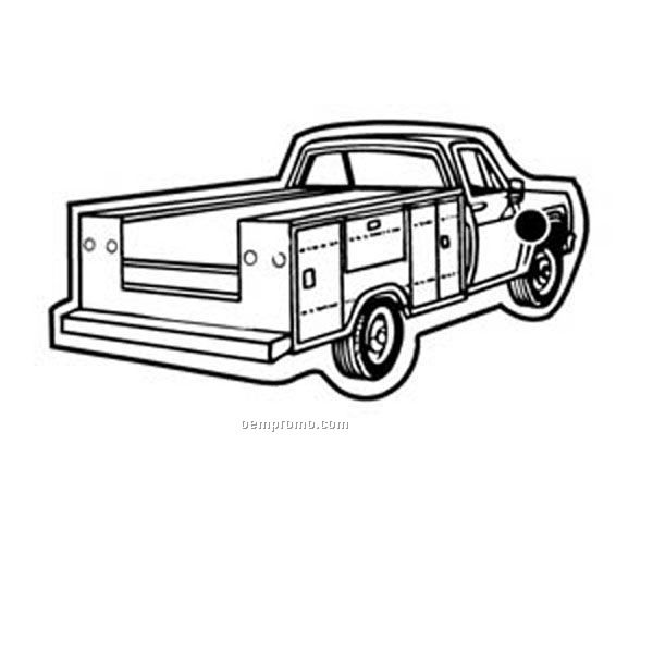 Stock Shape Collection Pickup Truck W/ Side Boxes Key Tag