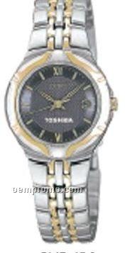Women`s Watch W/ Blue Gray Dial & Stainless Steel Bracelet