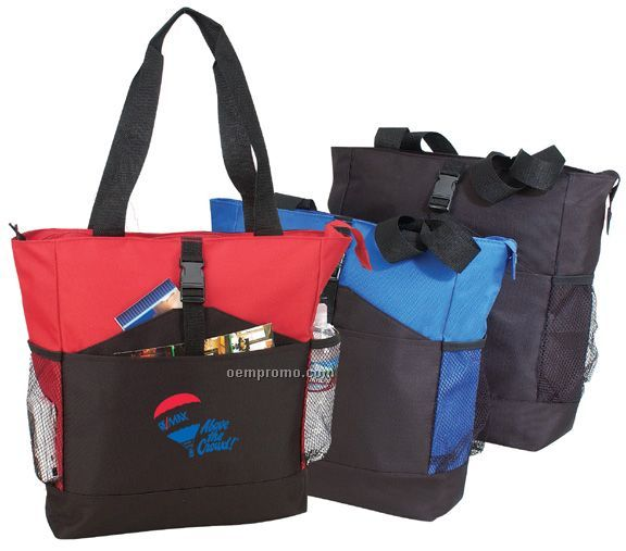 Deluxe Zipper Poly Tote