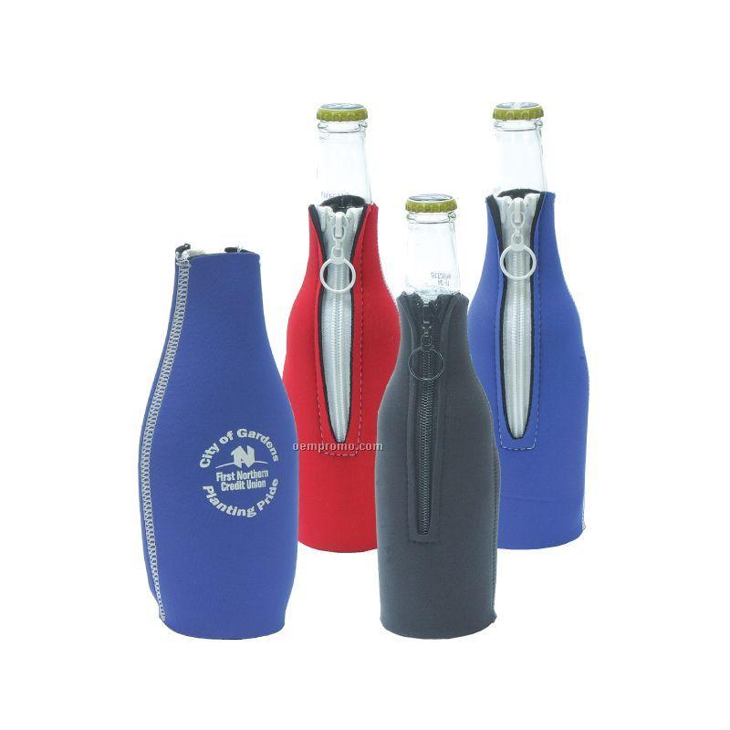 Neoprene Bottle Holder W/Zipper