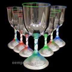 10 Oz. Light Up Wine Glass With Spiral Base