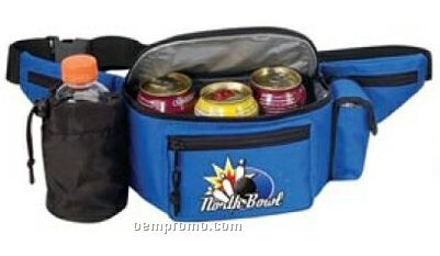Cooler Fanny Pack With Bottle Holder And Cell Phone Pouch
