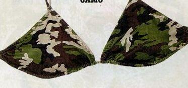Women's Woodland Camouflage String Bikini Swimsuit Top