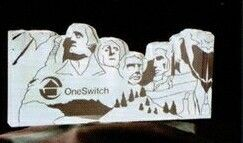 Acrylic Paperweight Up To 12 Square Inches / Mount Rushmore