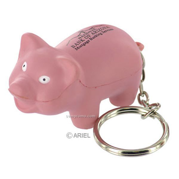 Pig Key Chain Squeeze Toy