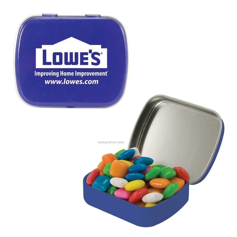 Small Royal Blue Mint Tin Filled With Gum