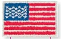 Stock Mini Applique Emblem / Patch (American Flag)