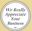 Stock We Really Appreciate Your Business Token (900 Zinc Size)